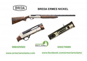 Escopeta BREDA ERMES NICKEL, calibre 12.