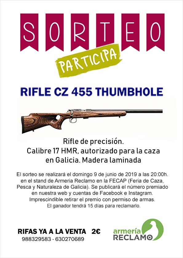 ¡¡¡ SORTEAMOS UN RIFLE !!!